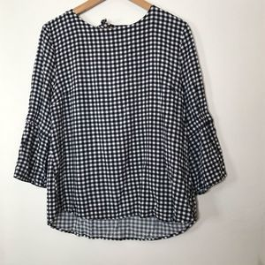 MAURICES••gingham tie back top
